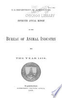 Annual Report of the Bureau of Animal Industry