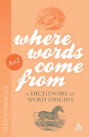 Where Words Come From