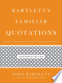 Bartlett s Familiar Quotations Book PDF