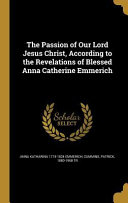 PASSION OF OUR LORD JESUS CHRI