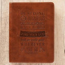 Journal Lux Leather Be Strong Courageous Josh 1 9 PDF
