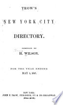 Trow s New York City Directory