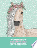 Coloring Books For Girls: Cute Animals