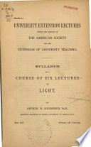 Syllabus Of A Course Of Six Lectures On Light
