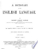 """A"" Dictionary of the English Language"