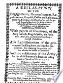 A Declaration of the Engagements, Remonstrances, Representations, Proposals, Desires and Resolutions from His Excellency Sir Tho. Fairfax, and the Generall Councel of the Army Pdf/ePub eBook