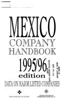 Mexico Company Handbook Book