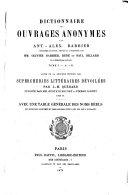 Dictionnaire des ouvrages anonymes par Ant. Alex. Barbier ebook