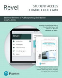 Revel for Essential Elements of Public Speaking    Combo Access Card