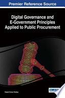 Digital Governance And E Government Principles Applied To Public Procurement