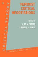 Feminist Critical Negotiations ebook
