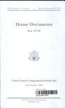 United States Congressional Serial Set, Serial No. 14962, House Documents Nos. 37-39