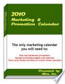 2010 Marketing Promotion Calendar