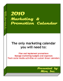 2010 Marketing   Promotion Calendar