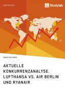 Aktuelle Konkurrenzanalyse. Lufthansa vs. Air Berlin und Ryanair