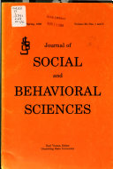 Journal of Social and Behavioral Sciences