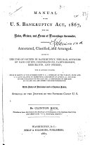 Manual of the U  S  Bankruptcy Act  1867