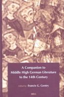 A Companion To Middle High German Literature To The 14th Century Book PDF