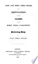 East And West India Sugar
