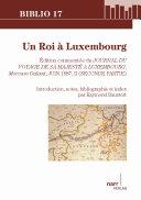 Pdf Un Roi à Luxembourg Telecharger