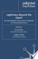 Legitimacy Beyond the State
