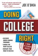 Doing College Right Book PDF