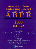 American Book Publishing Record Annual Cumulative  2008 Book