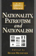 National Patriotism Nationalism