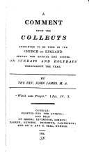Pdf A comment upon the collects ... used in the Church of England