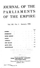 Journal Of The Parliaments Of The Commonwealth