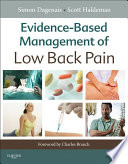 """Evidence-Based Management of Low Back Pain E-Book"" by Simon Dagenais, Scott Haldeman"