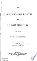 The Virginia Historical Register And Literary Advertiser