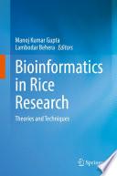 Bioinformatics in Rice Research