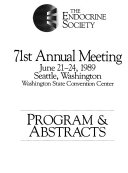 The Endocrine Society   Annual Meeting  Program and Abstracts