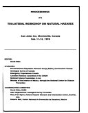 Proceedings of a Tri lateral Workshop on Natural Hazards Book