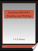 Teaching ESL EFL Reading and Writing Book