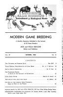 Modern Game Breeding