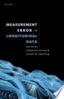 Measurement Error in Longitudinal Data Book