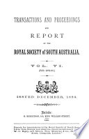 Transactions of the Royal Society of South Australia  Incorporated