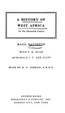 A History Of West Africa To The Nineteenth Century