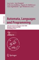 Automata, Languages and Programming Book