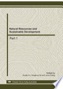 Natural Resources and Sustainable Development Book