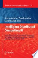 Intelligent Distributed Computing III