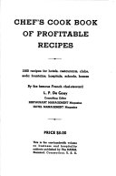 Chef s Cook Book of Profitable Recipes
