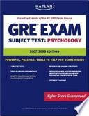 Kaplan GRE Exam Subject Test, Psychology
