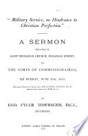 'Military service, no hindrance to Christian perfection', a sermon