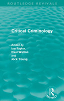 Critical Criminology (Routledge Revivals)
