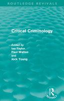 Pdf Critical Criminology (Routledge Revivals) Telecharger
