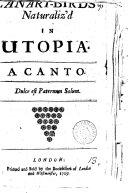 Pdf Canary-birds Naturaliz'd in Utopia. A Canto