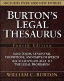 Burton s Legal Thesaurus  Fourth Edition